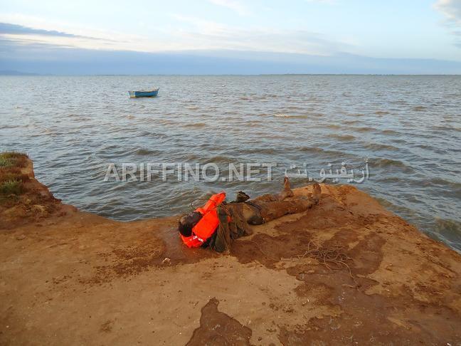 Cadaver de un inmigrante subsahariano. / Ariffino.net