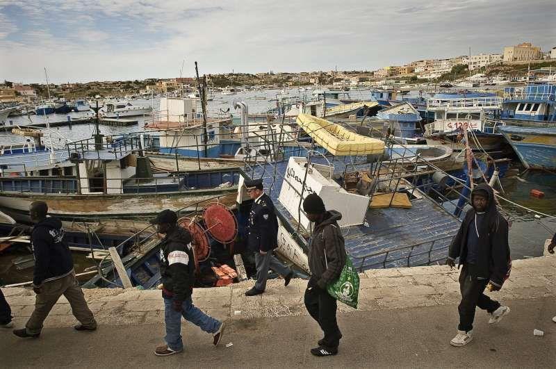 Migrantes recién llegados a Lampedusa (Italia). / ACNUR
