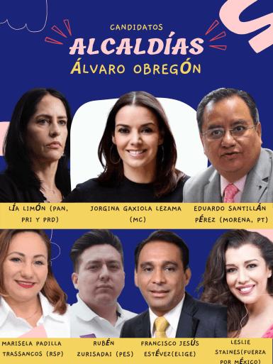 Candidatos a la alcaldía Álvaro Obregón