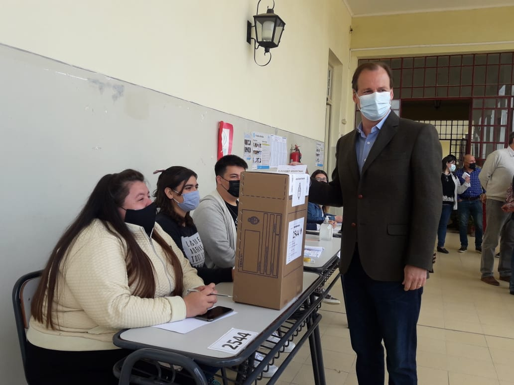 votó Gustavo Bordet en Concordia