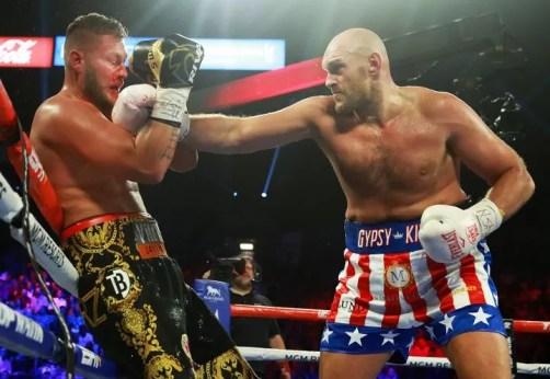 noticias de boxoe, tyson fury gana a tom schwarz comabate pesos pesados, pelea, velada, estados unidos