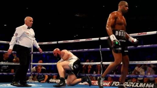 combate dubois gorman pesos pesados gran bretaña, victoria, cinturon, campeon
