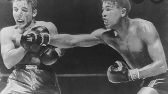 sugar ray robinson vs lamotta, combate peso medio, biografia, victoria