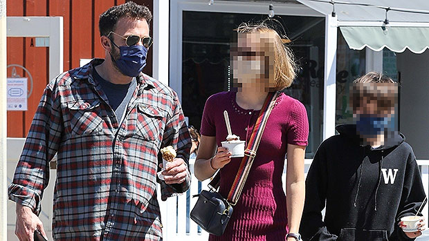 Ben Affleck Enjoys An Ice Cream Date With Daughters Violet, 15, & Seraphina, 12, After NYC Trip With J.Lo — Photos