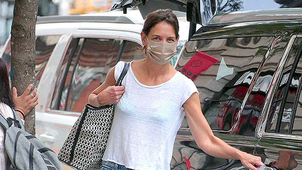 Katie Holmes Rocks Semi-Sheer Top While Out In NYC With Her Dog — Photo