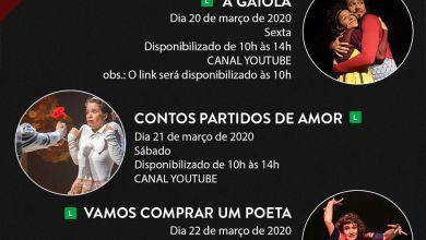 Photo of Espetáculos teatrais apresentados online e gratuitamente