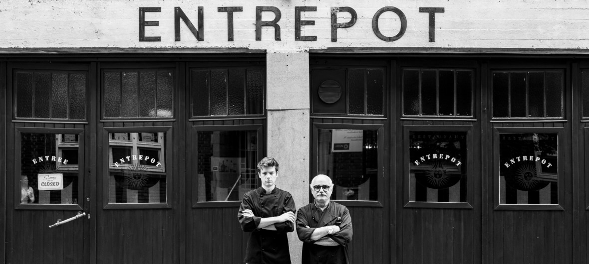 Entrepot del Tartufo. Chef Nico Salvatore en eigenaar Olivier Daenen.