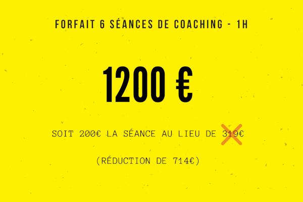 coaching entrepreneur : forfait 6 séances
