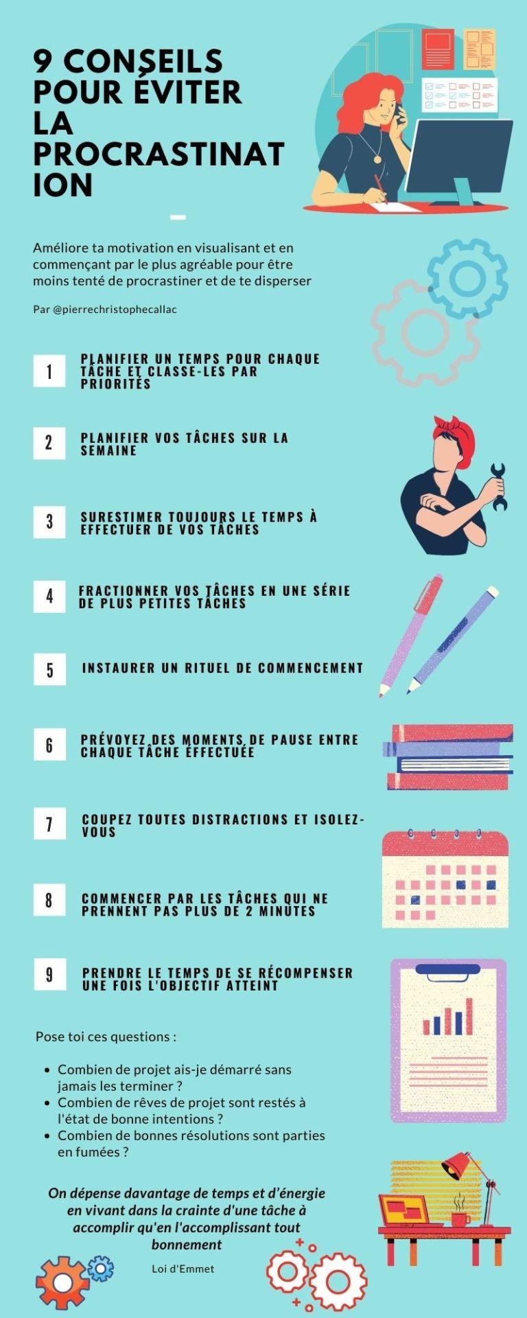 éviter la procrastination : les 9 conseils pour éviter la procrastination