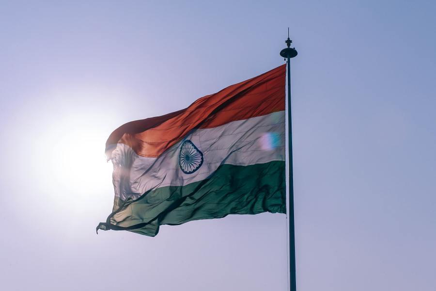 le drapeau de l'Inde