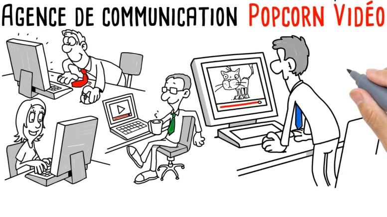 Agence de communication Popcorn Vidéo - vidéo scribing