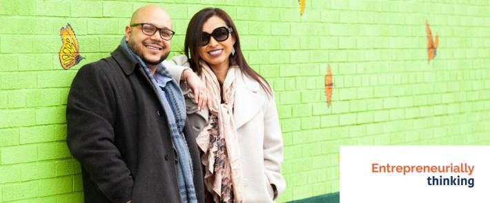 Hosts Gabriella Ramirez-Arelleno and Junior Lara