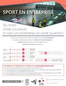 Affiche Sport en Entreprise Paris