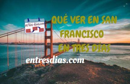 San Francisco en tres dias