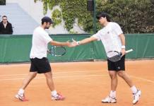 Juan Sebastián Cabal y su compañero Eduardo Schwank