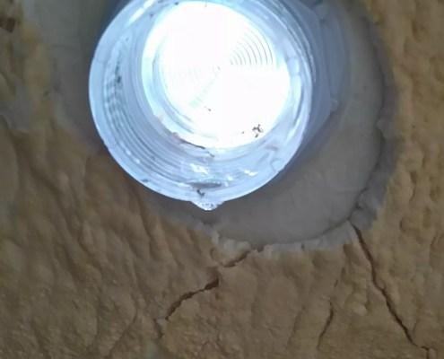 fuite projecteur spa