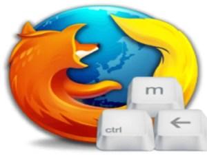 Atajos de teclado en Firefox