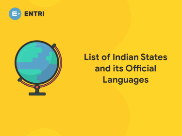 List of Indian States and Official Languages - Entri Blog