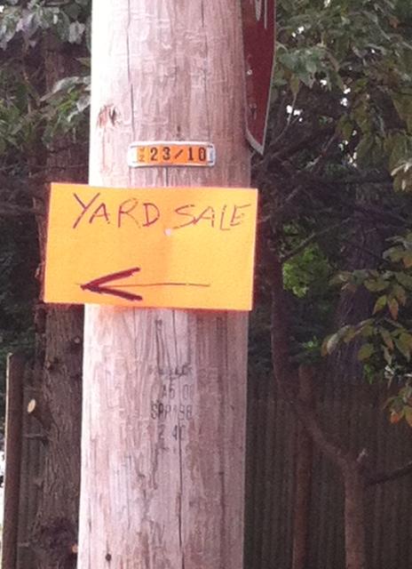 Entri WP: Yard Sale Advertising