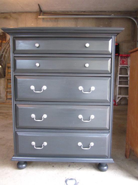 Annie Sloan Graphite Chalk Paint, Dark Grey Chalk Paint Furniture