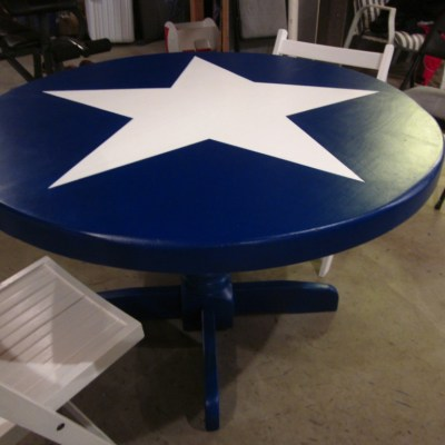 Cobalt Blue Pedastal Table