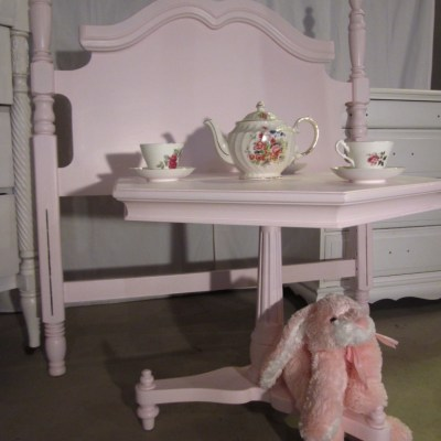 Pretty Pink Headboard & Tea Table