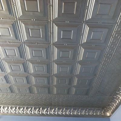 Tin Ceiling Tiles Reflect Light & Brighten a Room