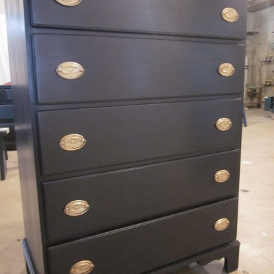 Coastal Blue Dresser With Eagle Brass