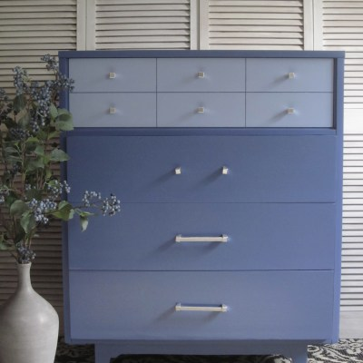 Purple MCM Dresser in Benjamin Moore's Aura Paint