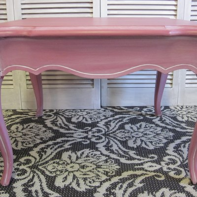 Pink Queen Anne Side Tables