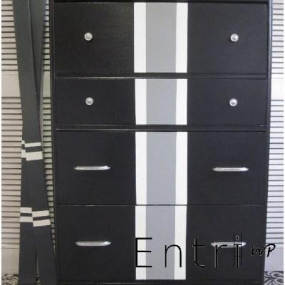 Black & Gray Waterfall Dresser