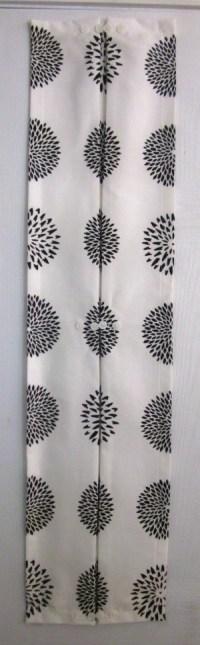 Sidelight curtain BW Zinnias