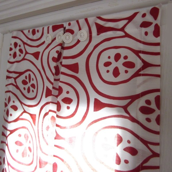 Sidelight Window Panel Red & White