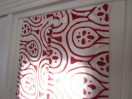sidelight, red and white Entri Window Panels