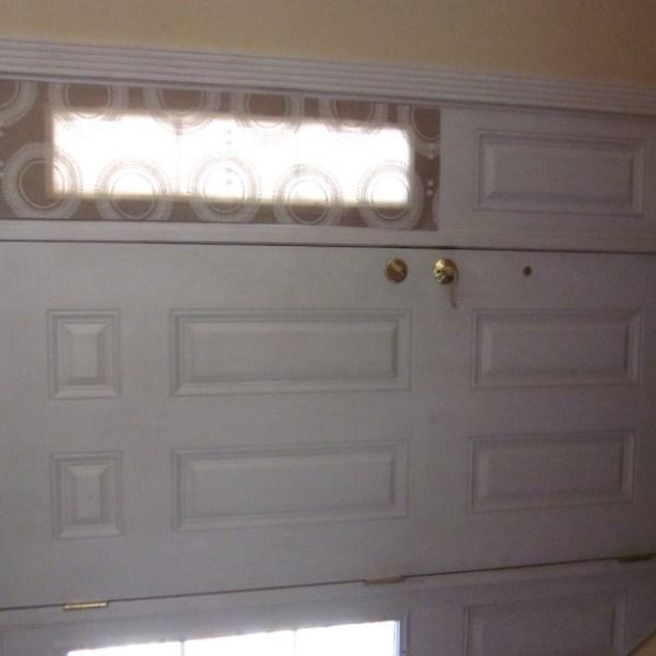 Sidelight Window Panels Tan & White