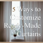 5 Ways to Customize Ready-Made Curtains