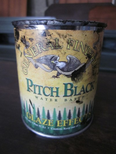 General Finishes Pitch Black Glaze Effects