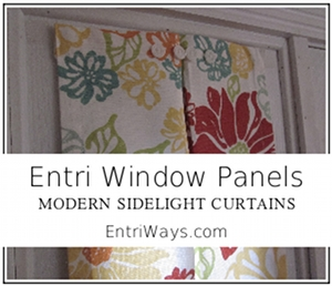 Modern Sidelight Panel in Red & Orange Flower