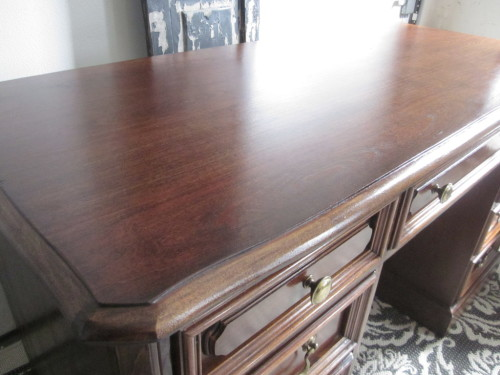 Hooker desk english chestnut