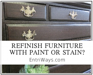 Deciding Whether to Refinish Furniture with Paint or Stain