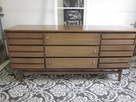 Triple MCM Dresser White Triangles