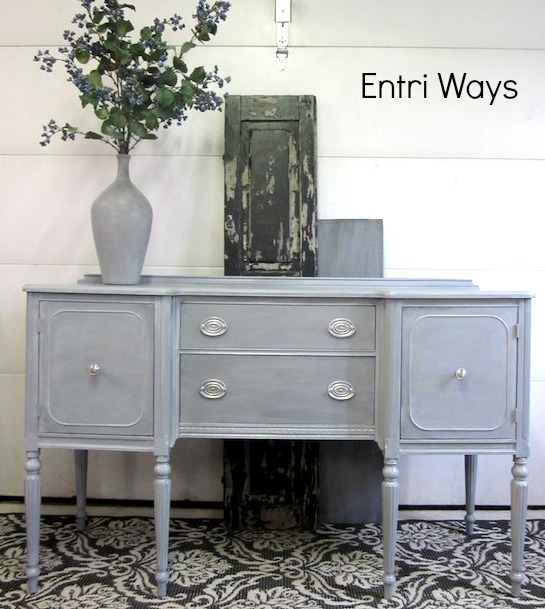 blue gray sideboard with silver hepplewhite entri ways rh entriways com gray buffet table grey buffet table with shutters doors
