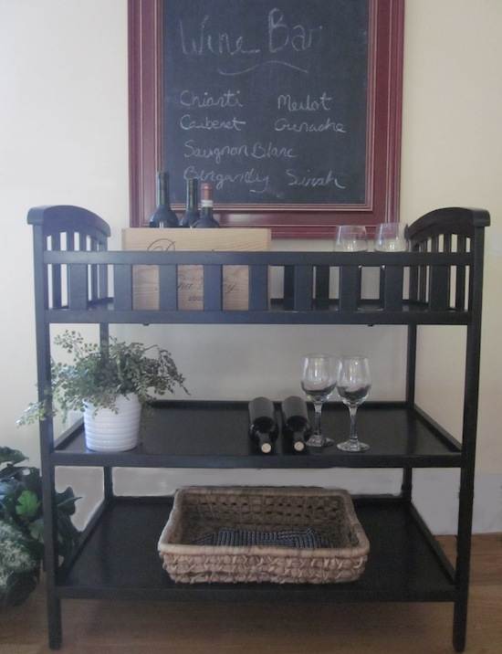 Changing Tables Bar Carts The Perfect Black Paint Entri Ways