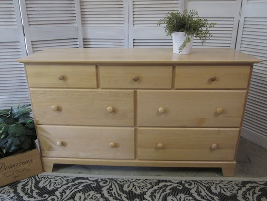 blonde maple dresser
