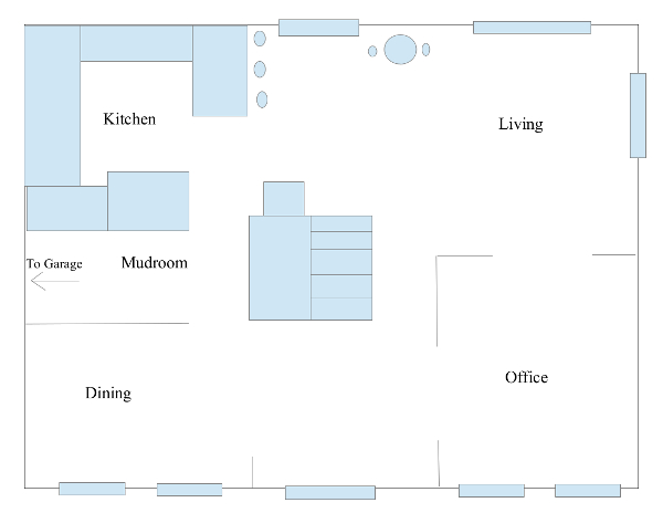 Colonial home 1st floor plan