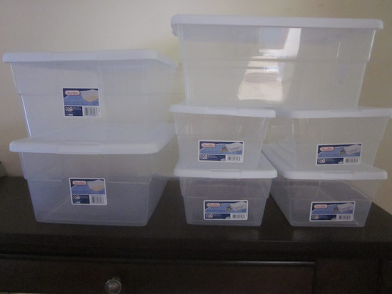 clear plastic storage
