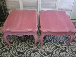 pink end tables
