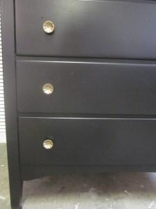 Tall Black Dresser Flower knobs