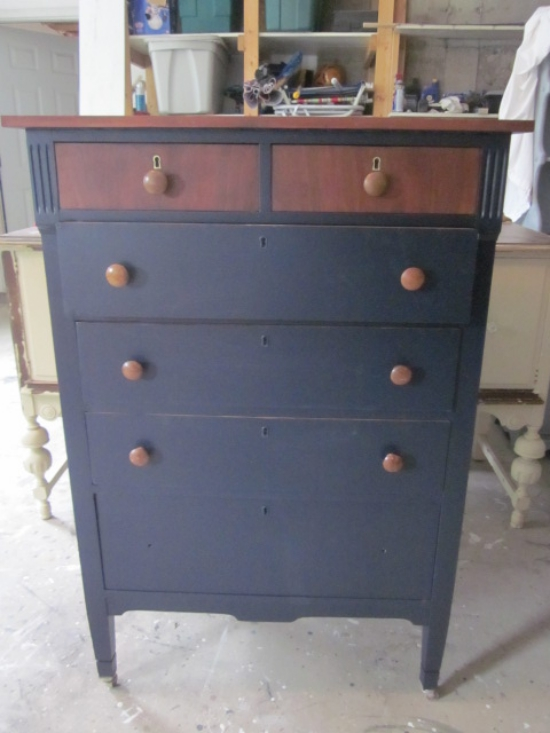 blue nailsea dressers in with drawers bristol glass p chest chests painted and of brass knobs gumtree navy