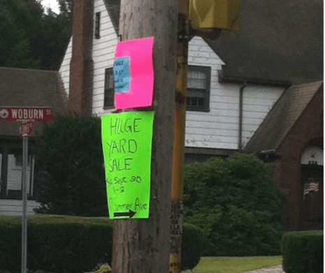 Yard Sale Sign 3